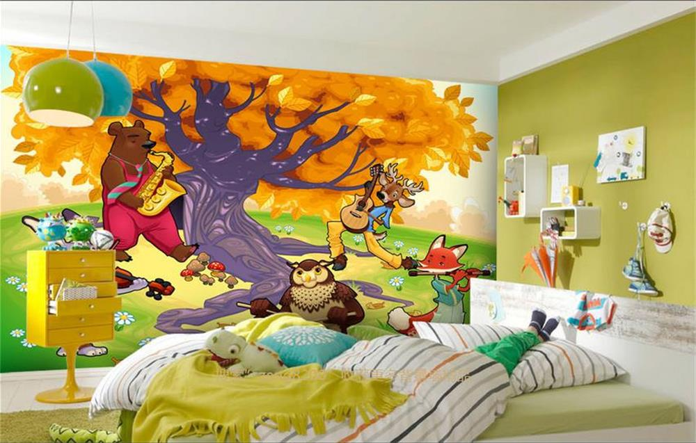 Buy custom 3d mural wallpaper non woven for Mural kids room
