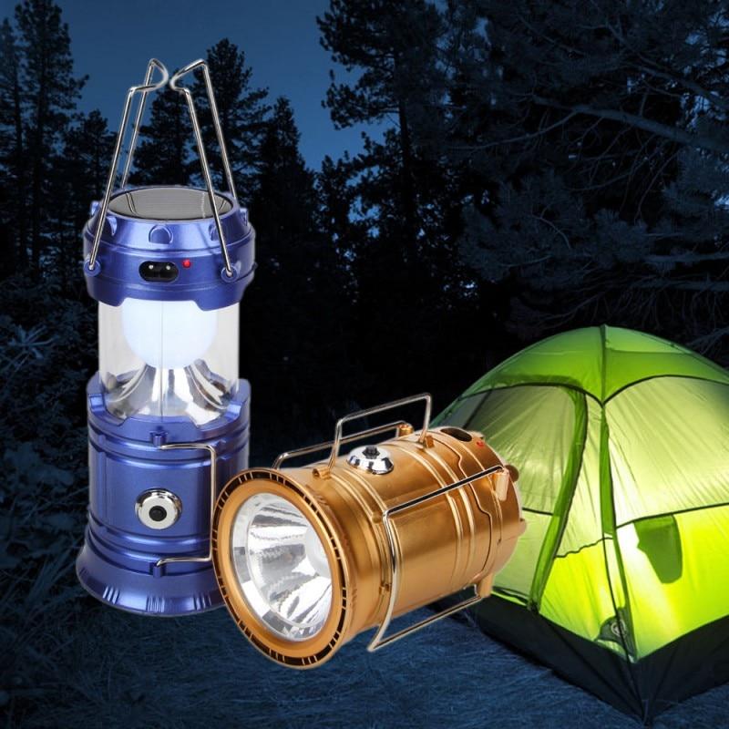 Luminaire Led Exterieur 6LED Solar Led Collapsible Flashlights Portable Solar Lamp Lantern Hanging Lamp Camping Led Recargable