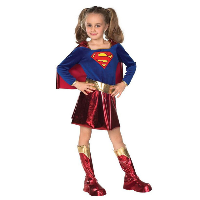 New Baby Children Superhero Halloween Costumes for Kids Girls Carnival Costume Superman Dress Cosplay for Girls  sc 1 st  AliExpress.com & New Baby Children Superhero Halloween Costumes for Kids Girls ...