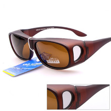 2017 Fishing Over the Glasses PC TAC Polarized OTG Sunglasses oversized shades Myopia Driving Sun Glasses