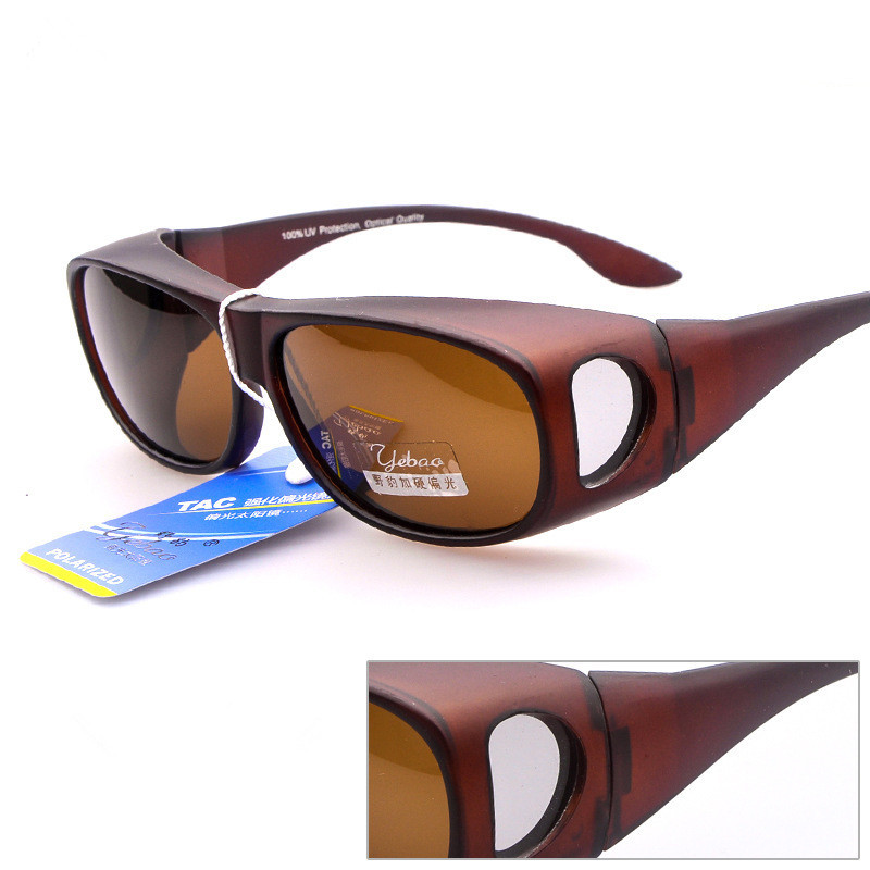 2018 Fishing Over the Glasses PC TAC Polarized OTG Sunglasses oversized shades Myopia Driving Sun Glasses high quality square oversized sunglasses