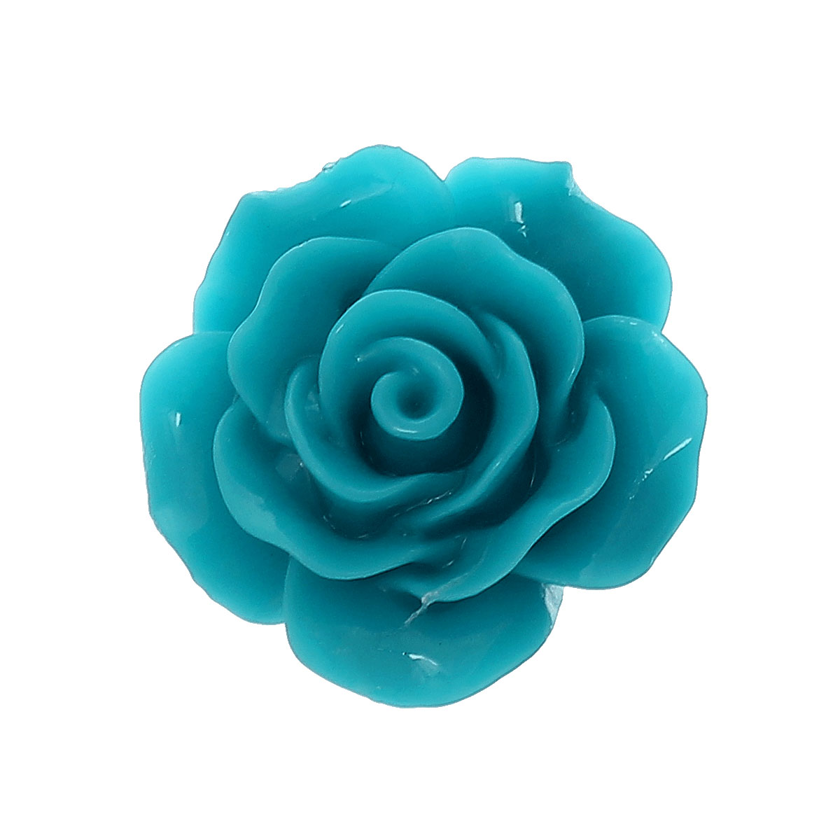 цена на DoreenBeads Resin Embellishments Findings Flower Deep blue 20.0mm( 6/8) x 20.0mm( 6/8), 5 PCs 2015 new