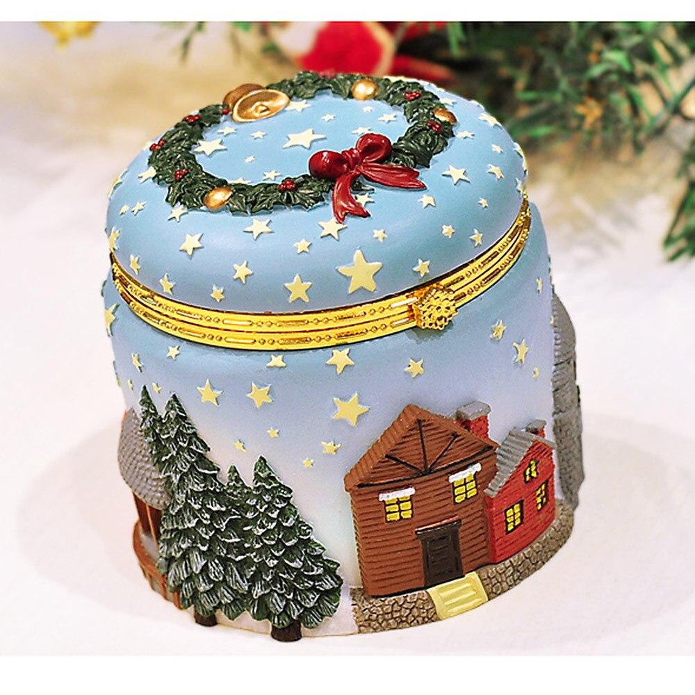 Elk de noël arbre de noël boîte à musique étonné boîte cadeau d'anniversaire envoyer fille accessoires de décoration de la maison navidad A724