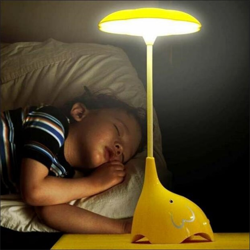 Kids Children Room LED Night Lights Lamp Baby Bedroom Lamparas Novelty Products Elephant Light Charging Battery Sensor Luminaria bedside night lights the spiderwick usb rechargeable led night light baby room vibration sensor dimmer lamp luminaria de mesa