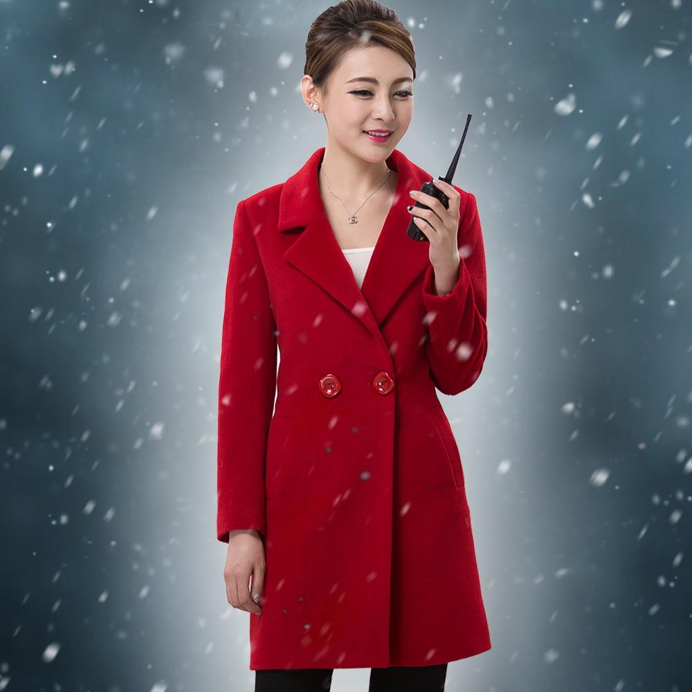 Hotel Reception Desk  Winter Thick Clothing Woolen Cloth Coat Woolen Cloth Uniform for Women
