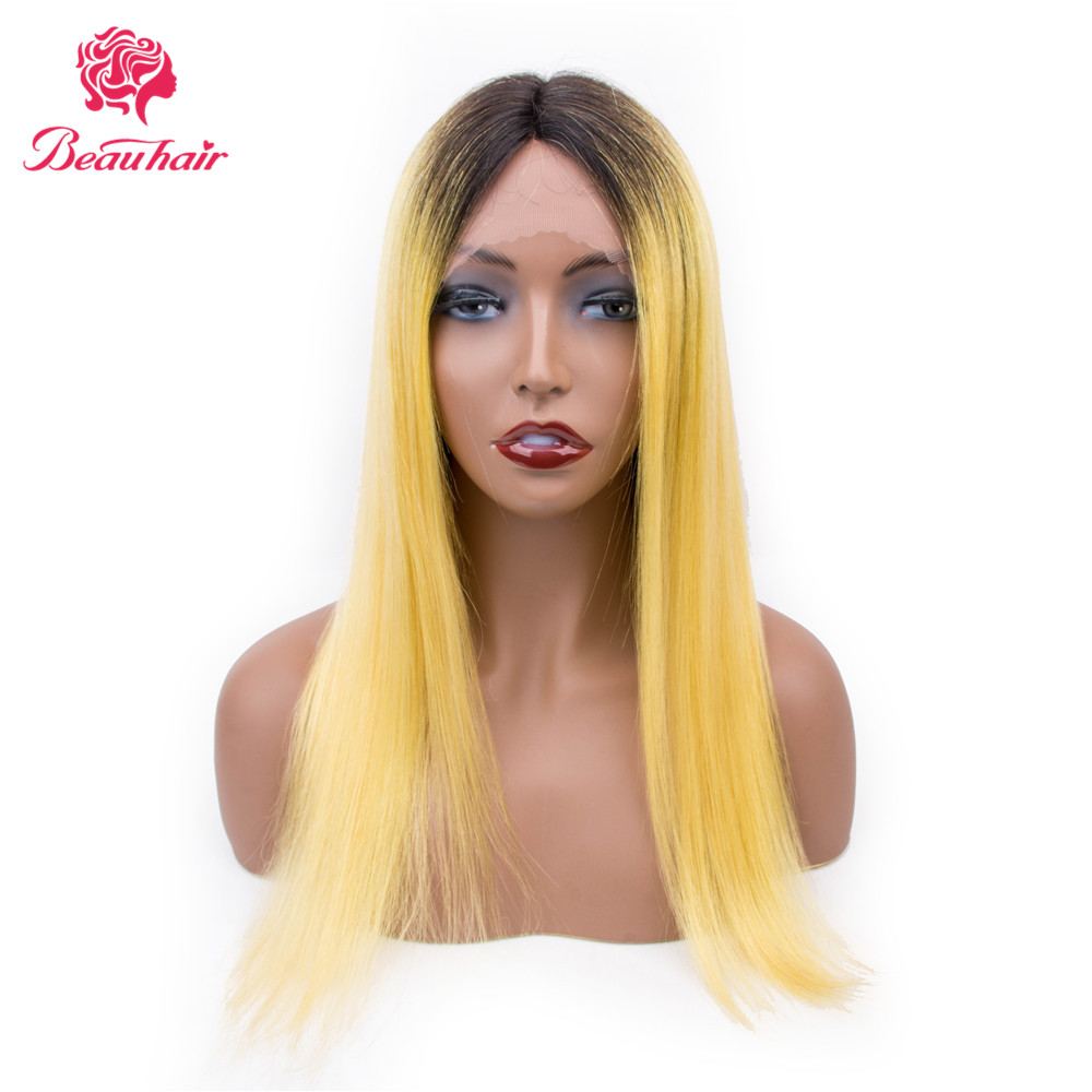 Brazilian Straight Lace Human Hair Wigs With Baby Hair Honey Yellow Human Hair Wigs Pre Plucked Remy Hair Glueless Long Hair Wig