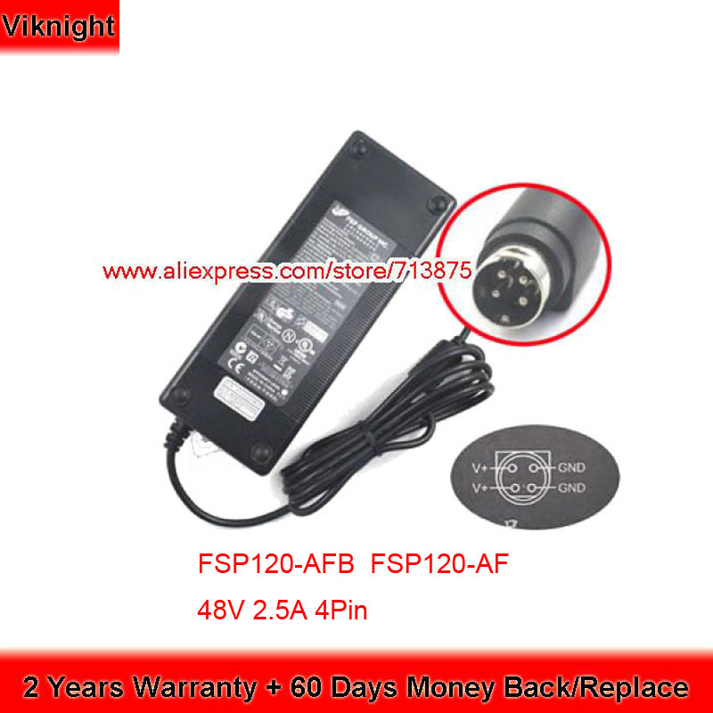 Fast Shipping FSP120 AFB FSP120 AFA 48V 2 5A 4Pin Ac Adapter for Switch SG300 10p