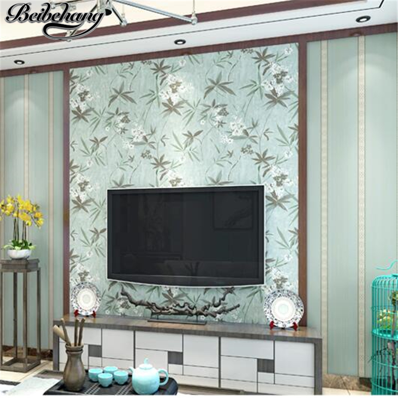 beibehang New Chinese Wallpapers Retro Bedroom Non - woven Wallpaper Classical Study Living Room TV Background Wallpaper