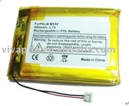 Free shipping 10pcs/lot PDA Battery Pack replacement for PALMONE&PALM M550 900mAh(CE,RoHS approved)