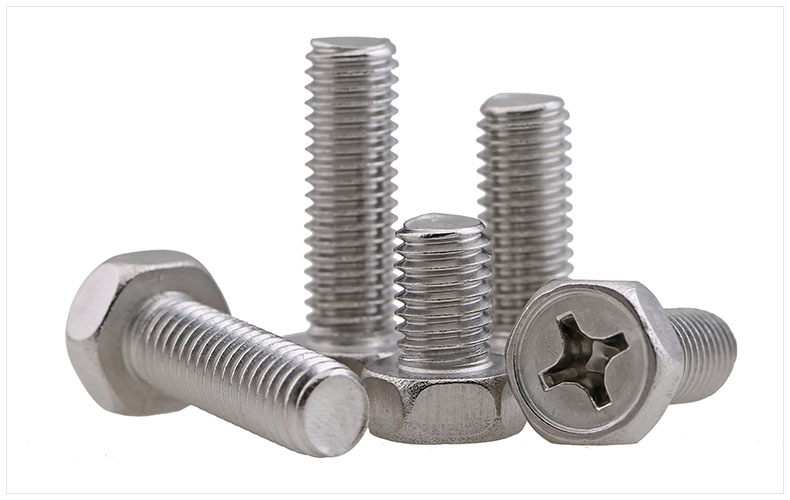 GB29.2 304 stainless steel external hex cross recessed socket hex head M3 M4 M5 M6 M8 screw bolt Hexagon screw 7pcs m6 60mm m6 60mm 304 stainless steel din7380 inner hex bolt hexagon socket mushroom round button head screw