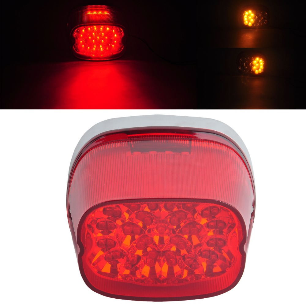NEW Red Lens LED Tail Signal Light Lamp Harley Softail 96 08 Sportster Dyna Glide|dyna - title=