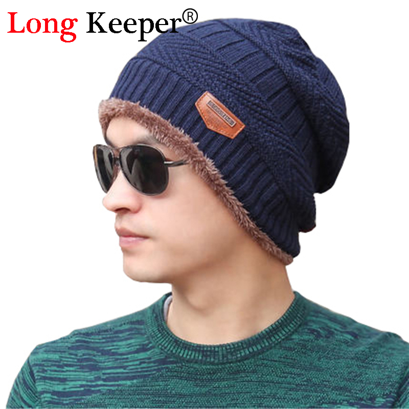 Long Keeper Men Warm Hats Beanie Hat 2016 Winter Knitting Wool Hat for Unisex Caps Beanie Knitted Caps Women's Hats Outdoor Warm 2017 new wool grey beanie hat for women warm simple style bad hair day knitting winter wooly hats online ds20170123 x24