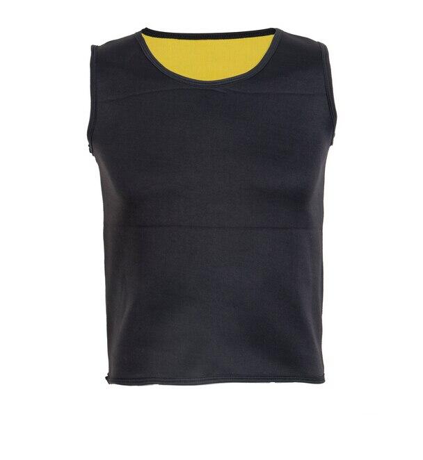 Black Neoprene Weight Loss Mens Body Shapers Vest Slimming Fitness Waist Tops Sweat Shapwear Shirts Hot Plus Size M-4XL 4