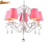 modern crystal chandelier Led110v220v pastoral living room cloth princess Korean child chandelier modern
