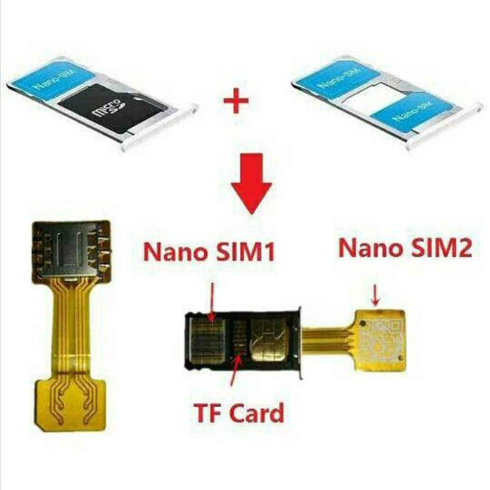 Adaptador de tarjeta Micro SD, Dual SIM, híbrido, extensor 2, adaptador de ranura para tarjeta Mini Micro SIM para Xiaomi Redmi para teléfono Samsung