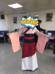 Image 4 - Костюмы на Хэллоуин для женщин размера плюс принцесса фильм косплей девушка взрослые дети Хуа Мулан взрослый костюм платье розовое голубое платье