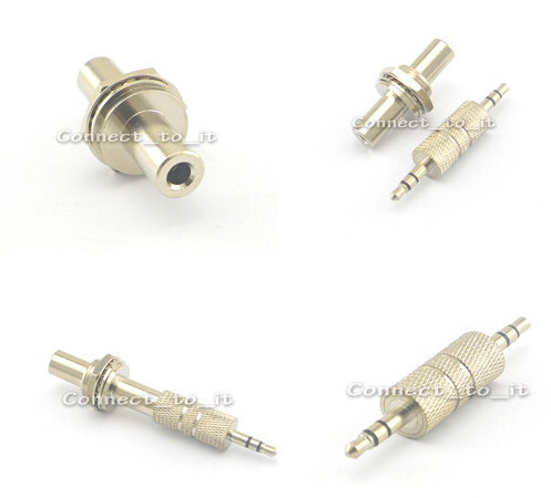 2 Pieces 3.5mm Jack Female to Female Bulkhead Jack Stereo  Adapters+3.5mm Male Plug to Male Plug Straight Audio Dual Adapter сварочный аппарат sturm aw97i119