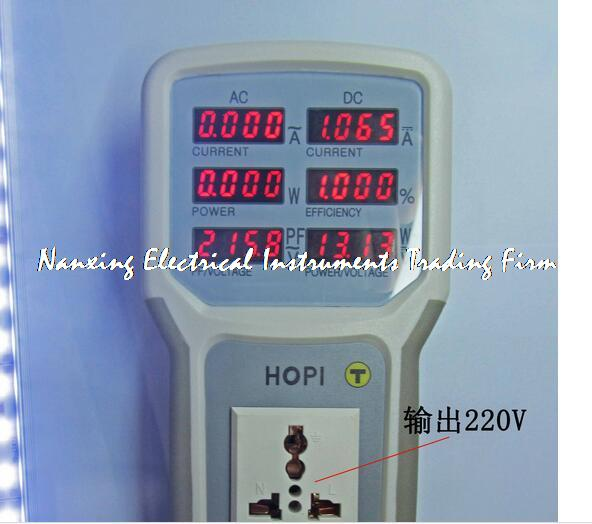 LED drive power saving lamp tester AC4400W(85V-265V,0.002A-20A),DC800W(5V~80V,0.005A~10A) AC/DC power meter HP9801