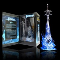 WOW Arthas Menethil's Weapon Frostmourne Sword with Lighting Figma Starz Game Anime pvc action figure toy kids birthday toys 11