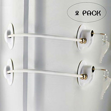 2 Pack Child Baby Safety Lock Refrigerator Door Lock File Drawer Lock Freezer Door Lock 2017 best sale refrigerator door gasket freezer door seal for household