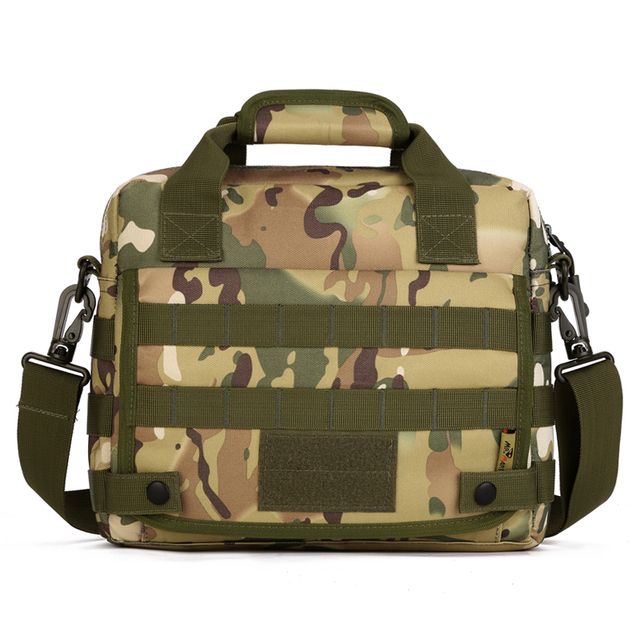 Camouflage Outdoor 10 Inch Laptop Bag Men Durable Waterproof Army Tactical Briefcase Extend Molle Military Shoulder