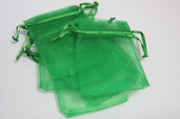 100pcs/lot forest green colour Organza Bags 7x9cm Wedding Favour Gift bag Jewellery pouches