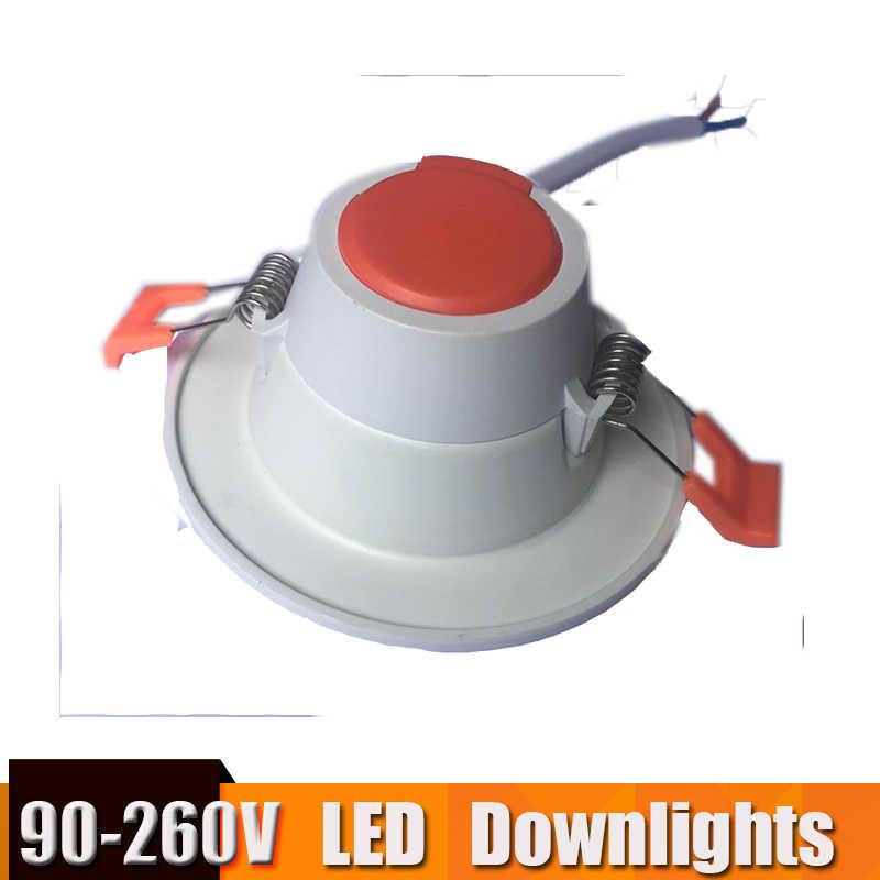 بقعة Led أسفل ضوء Focos Led تيكو مصباح ليد النازل 3 w-18 w جولة 220v 110v ل cocina غرفة المعيشة السقف الإضاءة الضوء