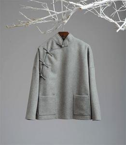 Image 2 - Johnature נשים צמר מעילי בציר ארוך שרוול סטנד כיסי נשים בגדי אופנה 2019 סתיו חורף Loose מעילים חמים