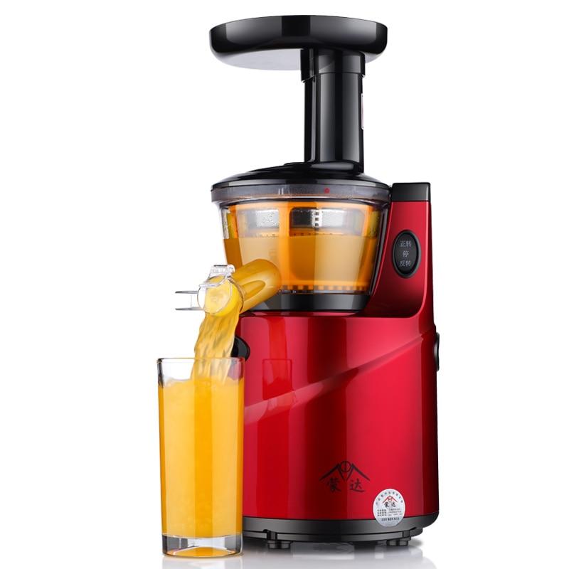 2018 New Fully Automatic Household Juice Maker Fresh Fruit Juicer MD-100 Blender Slow Speed Soymilk Machine Bean Grinder Kitchen 2018 new large mouth slow speed juice maker household juicer 68rpm fruit squeezer md 60 blender mixer