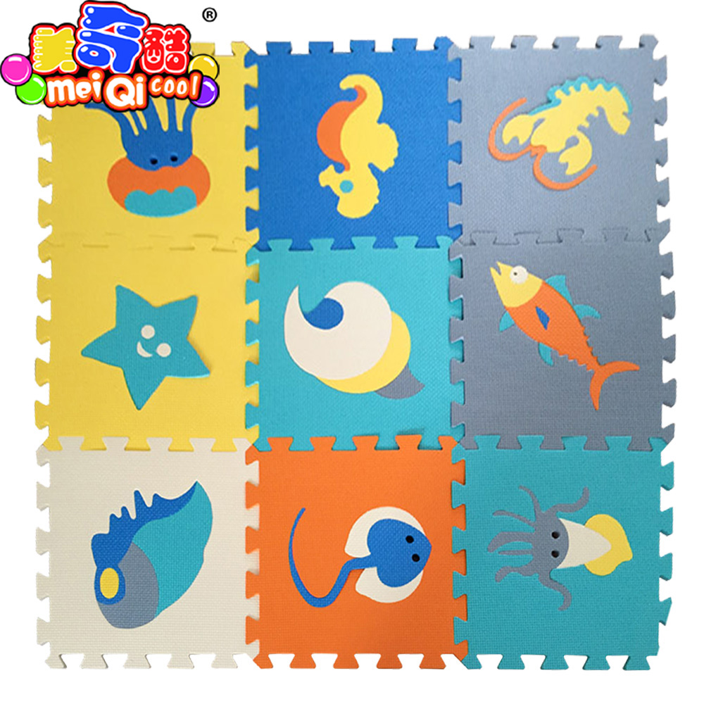 Cartoon Anime Doll EVA Foam Baby Toy Puzzle Play Mat Interlocking Game Exercise Gym Tile ...