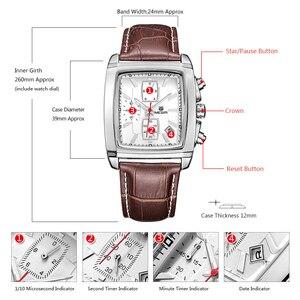 Image 5 - MEGIR mode montre décontractée pour homme de luxe militaire sport montres bracelet en cuir étanche Quartz montres mâle Relogio Masculino