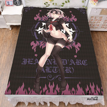Japanese Anime Fate Grand order Jeanne dArc Bed sheets  Bedding Coverlet cartoon bedsheets cosplay fan gift drop shipping