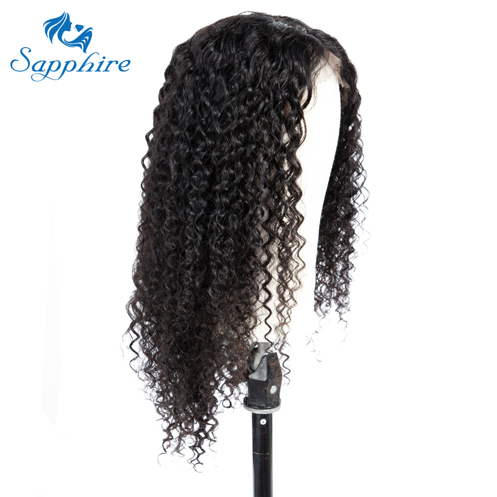 Sapphire Brazilian Lace Front Human Hair Wigs For Black Women Pre Plucked Bleached Knots Curly Wig With Baby Hair Lace Front Wig-in Human Hair Lace Wigs from Hair Extensions & Wigs    2