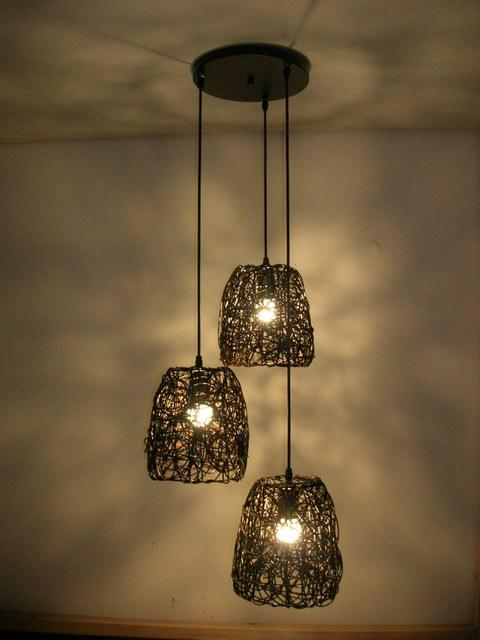 rustieke handgemaakte rotan hanglamp woonkamer hanglamp eetkamer ...