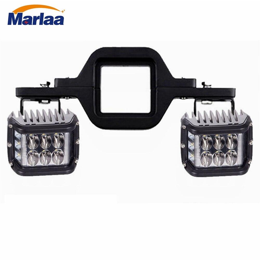 Marlaa 1pcs 4x6 LED Headlights Sealed Beam Spot Lights for
