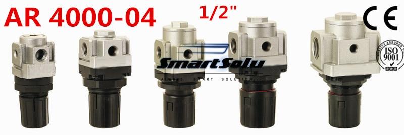 все цены на  Free Shipping AR4000-04 Pneumatic Mini Air Pressure Regulator 1/2 Inch BSP,  Type Air Treatment Units ,1/2