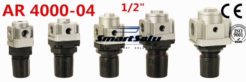 Free Shipping AR4000 04 Pneumatic Mini Air Pressure Regulator 1/2 Inch BSP, Type Air Treatment Units ,1/2 Port Size
