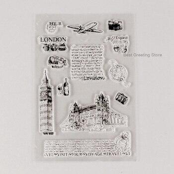 Фоновые марки для скрапбукинга, карточные принадлежности для скрапбукинга, прозрачные марки для путешествий