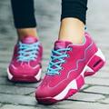 Mujeres de la plataforma Zapatos Cesta Gumshoe Tenis Feminino Señoras Krasovki Femenino Femme Chaussure Femme Sapatos Femininos Valentine X180