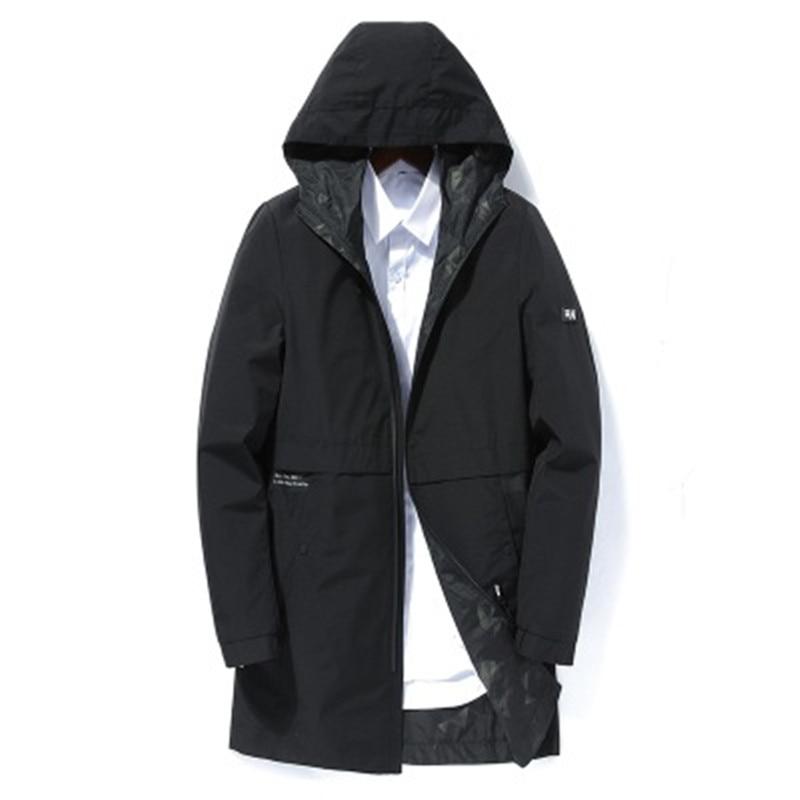 2019 spring autumn men's fashion casual hooded jackets Business High quality jacket men Windbreaker Coat mens Outwear - 3