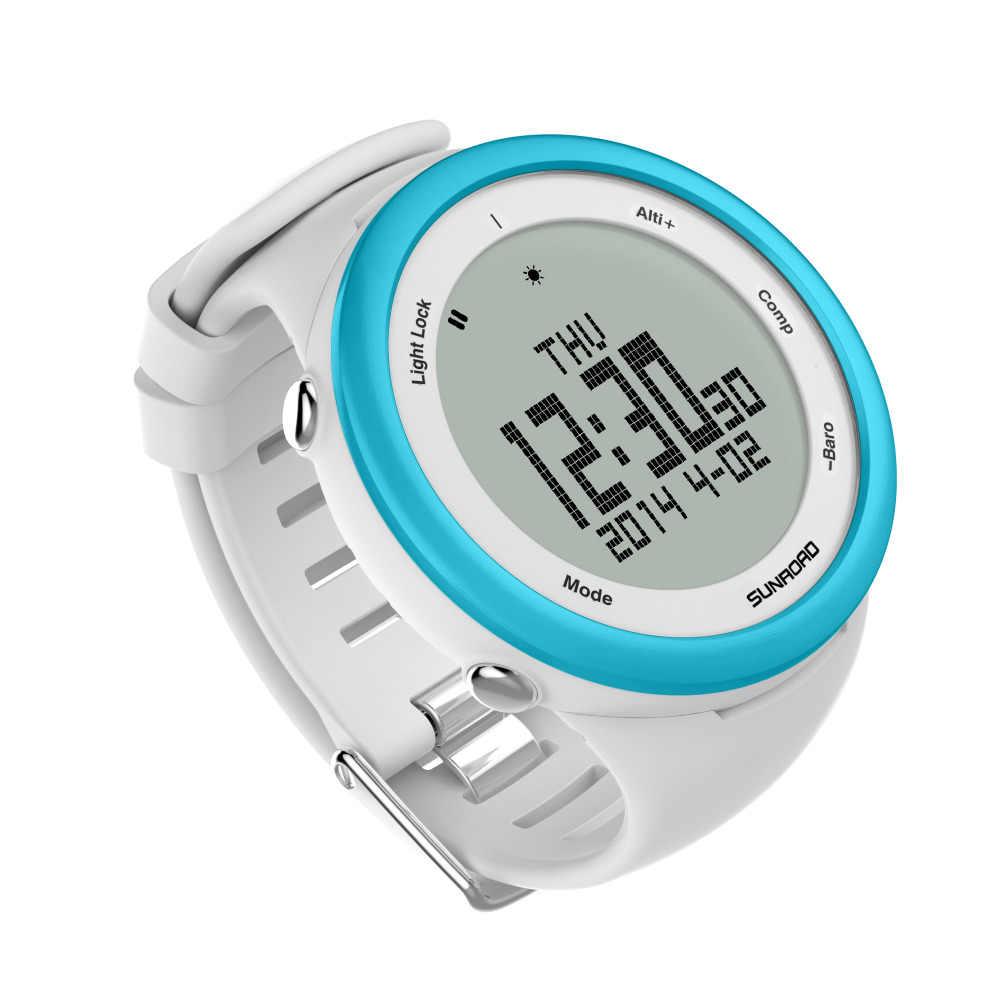 サンロードメンズデジタルスポーツウォッチ登山歩数計バロメーターコンパス時計リロイ防水スマートスポーツ腕時計 (ブルー)