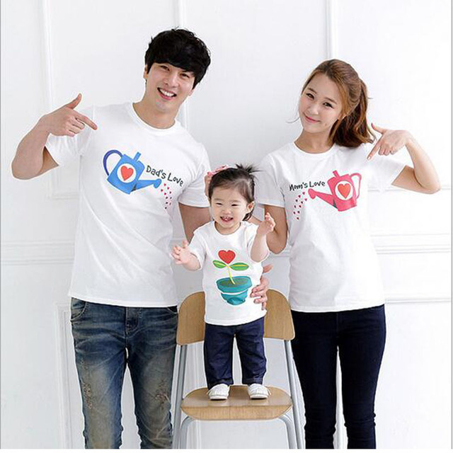 Fashion Mother Son Outfits Cartoon Mother Father Baby T Shirt Cool ...
