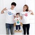 Moda Mãe Filho Pai Mãe Do Bebê Dos Desenhos Animados Outfits T-Shirt Legal Combinando Roupas de Verão Da Família T-shirt Da Família