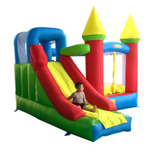 лучшая цена Inflatable Bouncy Castle Inflatable Jump Castle for Kids with Blower 3.5x3x2.7M Bounce House with Slide Funny Kids Trampoline