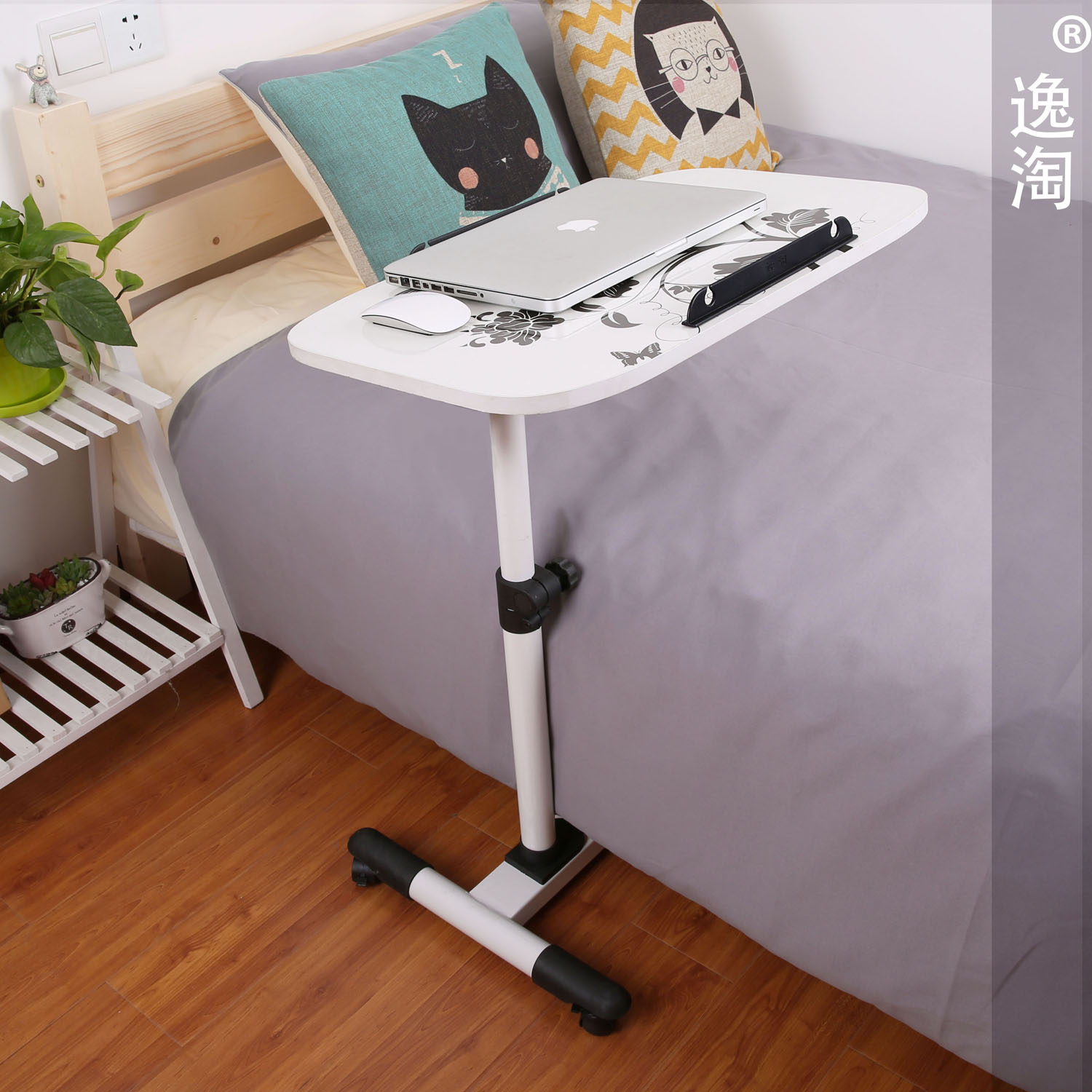 Laptop Desk Computer Desk Bed Down Easy Movement Of The