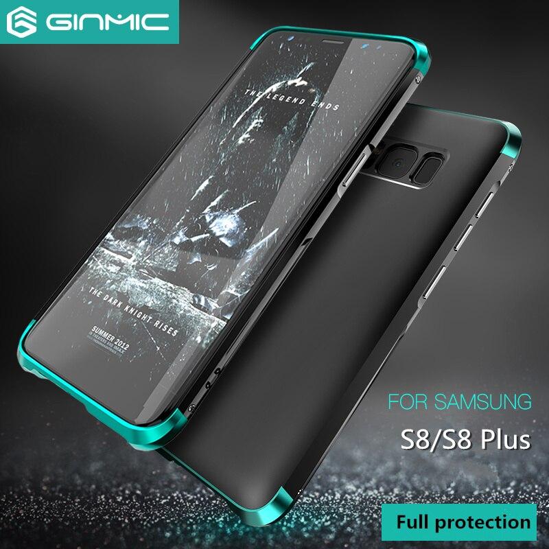 Für Samsung Galaxy S8 Fall Luxus 360 Vollen Schutz 3in1 Metall + PC Fest Hybrid Abdeckung Für Samsung Galaxy S8 Plus Shell