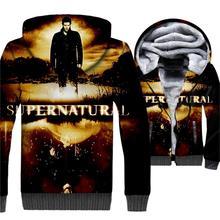 New Arrival Mens Hoodies 2019 Hot Sale Ainme Winter Sweatshirt Hip Hop 3D Supernatural Hoodie Harajuku Thick Zipper Jacket Coat