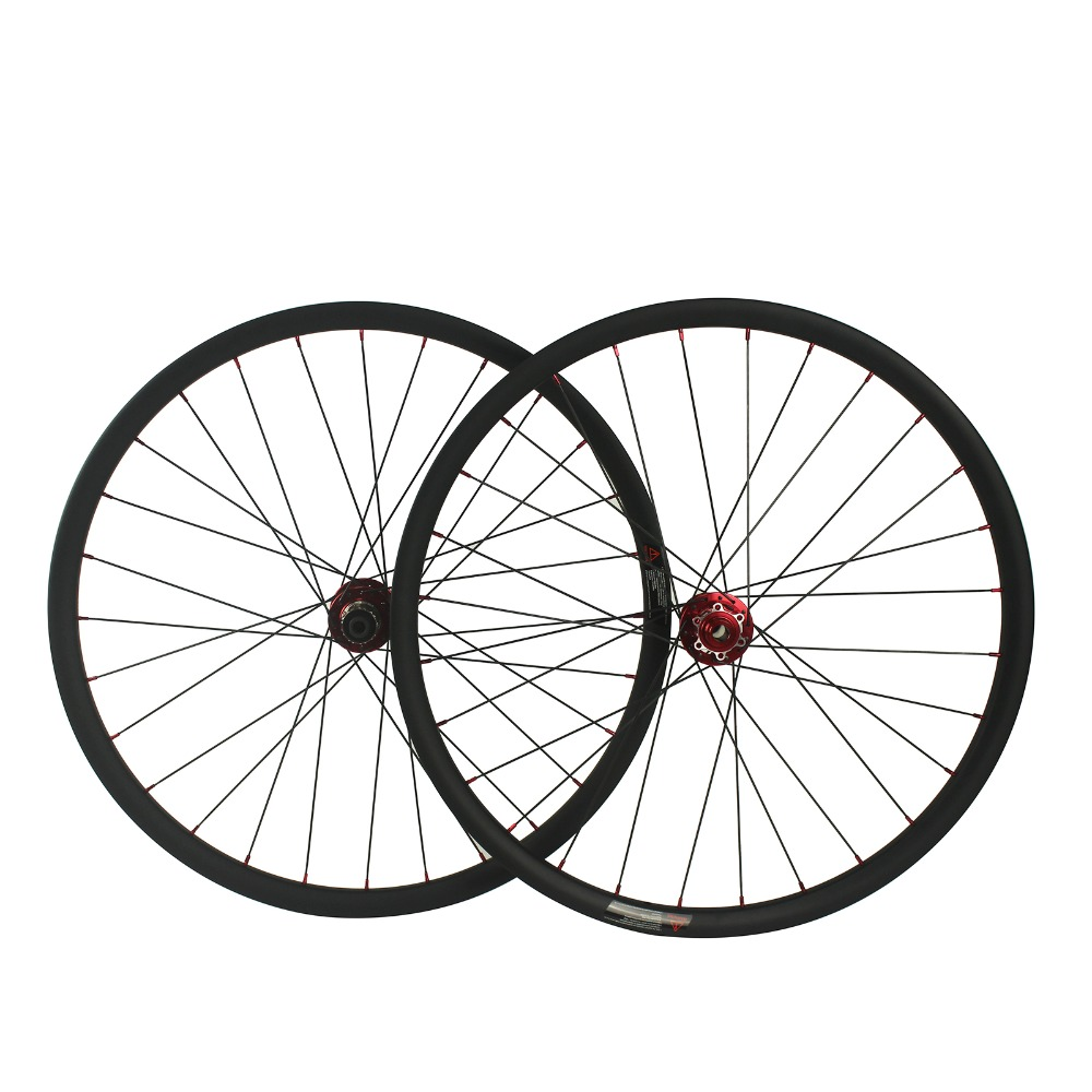 27.5ER 650B clincher carbon mountain bike wheels mtb carbon wheelset D881 hub compatible SH Groupsets/CP Groupsets factory direct mountain bike clincher wheelset 29 inch 27 5er carbon mtb wheels 29er 650b carbon mtb wheels tubeless rims