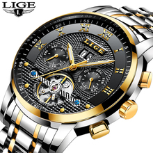 Men Watches 2019 Luxury Brand LIGE Automatic Mechanical Watch Men Full Steel Bus