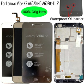 Shyueda 100% Oig NEW with frame For Lenovo Vibe K5 A6020a40 A6020a41 5 LCD Display Touch Screen Digitizer